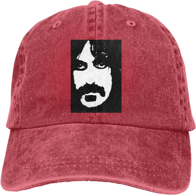 Frank Zappa Cowboy Hat Unisex Adjustable Hat Circumference Size Pure Cotton Denim Wash Water Outdoor