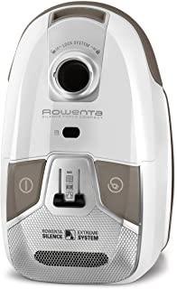 Rowenta Silence Force Compact RO6327EA - Aspirador con bolsa, bolsa triple filtración 3.5 L con cepillo parquet con dos posiciones y ranuras, tubo telescópico, bajo nivel de ruido 68 dB