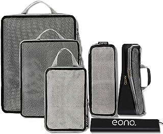 Eono by Amazon - Organizadores de Viaje de compresión expandibles, Impermeable Organizador para Maletas, Organizador de Eq...