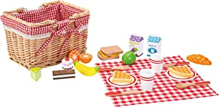 Fat Brain Toys 27 Piece Picnic Basket Playset Imaginative Play for Ages 3 to 5