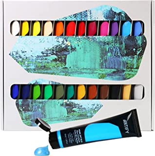 ARTIFY Acrylic Paint Set, 48 Colors (1.29 oz, 38ml) with a Storage Box, Rich Pigments, Non-Fading, Non-Toxic Paints for Ar...