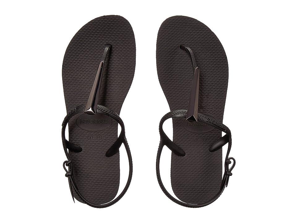 052587eafe6b0d Havaianas Freedom SL Maxi Flip-Flops (Black) Women