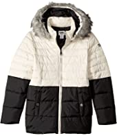 Karl Lagerfeld Kids - Two-Tone Puffer Jacket with Hood (Big Kids)