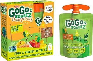 GoGo squeeZ fruit & veggieZ, Apple Pear Carrot, 3.2 Ounce (48 Pouches), Gluten Free, Vegan Friendly, Unswee...