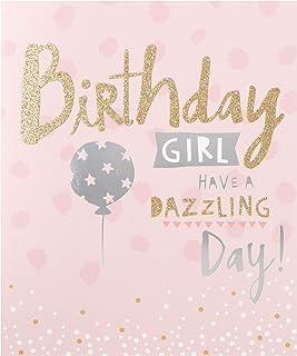 Birthday Girl Card from Hallmark - Fun Glitter and Foil Design