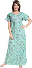 Soulemo Women's Pure Cotton Floral Regular Nighty