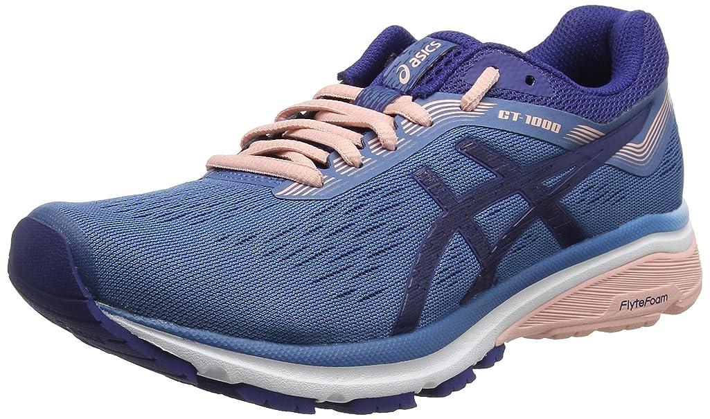 暖炉マーティンルーサーキングジュニア燃やすAsics GT-1000 7 [1012A030-400] Women Running Shoes Azure/Blue Print-Coral