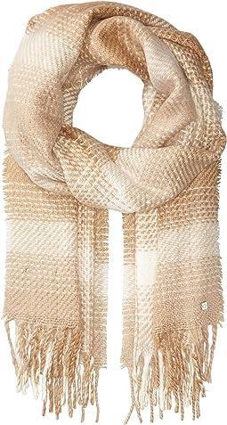 Brushed Plaid Blanket Wrap
