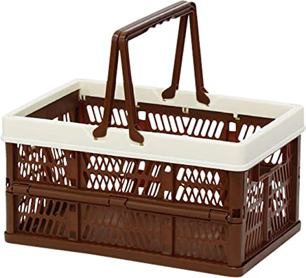 折叠 堆叠 容器盒 棕色 Small 400729806