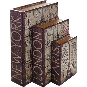HMF 80961 Libro Segura Ciudades Conjunto de 3, Aspecto Antiguo ...