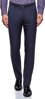 oodji Ultra Men's Basic Slim-Fit Trousers