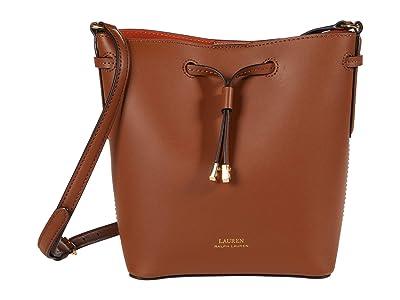 LAUREN Ralph Lauren Dryden Debby II Mini Drawstring (Field Brown/Orange) Handbags