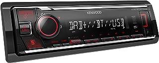 Kenwood KMM BT407DAB   USB Autoradio mit DAB+/UKW und Bluetooth Freisprecheinrichtung (Soundprozessor, USB, AUX, Spotify Control (Android), 4x50 Watt, Tastenbeleuchtung rot, inkl. DAB+ Antenne)