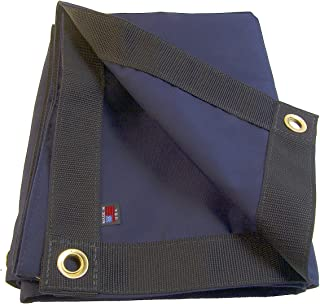 Sunbrella Tarp, Captain Navy w/Reinforced Edging & 1/2 Inch Brass Grommets Every 16 Inches