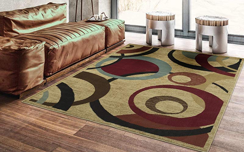Ottomanson Royal Collection Area Rug Beige Circles