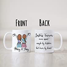 Sisters forever mug, Custom design options for girls, personalized with names