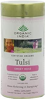 Organic India Tulsi Tea, Loose Leaf, Sweet Rose, 3.5 Ounce