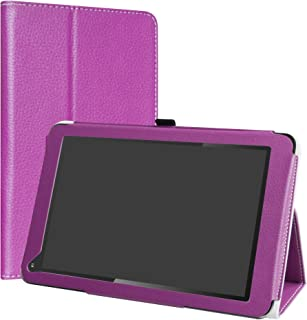 Dragon Touch V10 Case,LiuShan PU Leather Slim Folding Stand Cover for Dragon Touch V10 10-Inch Android Tablet,Purple