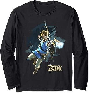 Legend Of Zelda Breath Of The Wild Link Archer Jump Shot C1  Long Sleeve T-Shirt