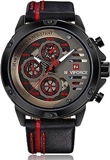 NAVIFORCE Mens Watches Top Brand Luxury Waterproof 24 hour Date Quartz Watch Men Waterproof Man Leather Sport Wrist Watch