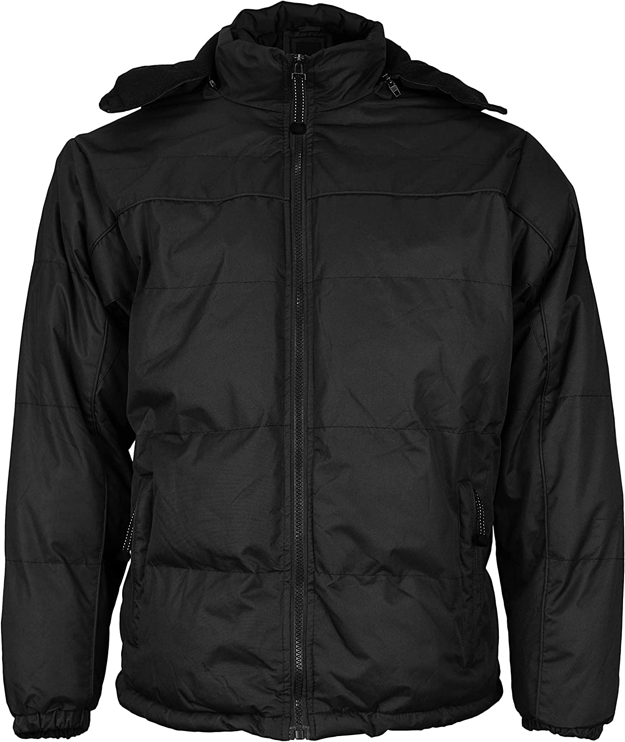 vkwear Men's Heavyweight Insulated Lined Winter Jacket with Removable Hood BIGBEAR