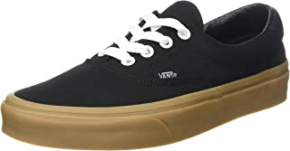 Vans Unisex Adults' Era 59 Canvas Gum Trainers, Black (Canvas Gum/Black/Light Gum), 7.5 UK 41 EU