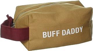 SAY WHAT AF122923 DOPP Bag: Buff Daddy Vanity Cases, Brown/red