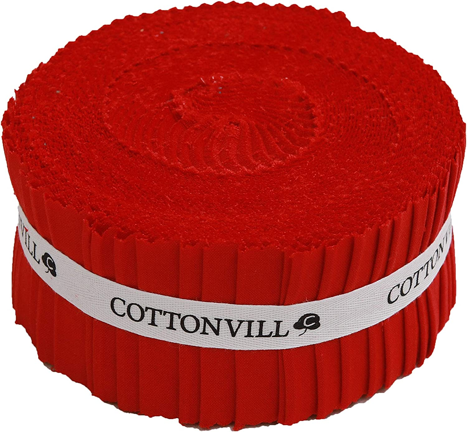 COTTONVILL 20COUNT Cheap mail order Austin Mall specialty store Cotton Solid Fabric Strip Quilting 2.5inch