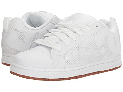 DC Court Graffik (White/White/Gum) Men