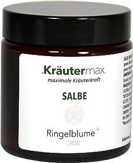 Kräutermax Ringelblumensalbe 1 x 100 ml - Hautcreme zur äußerlichen Behandlung - Garten-Ringelblume Calendula im Tigel zum Auftragen und zur Einreibung