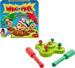 Mattel Games Chass'Taupes jeu d'arcade avec maillets, lumières et sons, 1 à 2 joueurs, pour enfant dès 4ans, GVD47