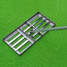WSVULLD Gazon Leveler, Golf Garden Grasniveau, Niveau-bodem met 43-inch handvat, heavy-duty roestvrij staal Grote capacite...