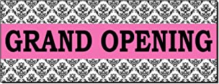 Grand Opening Pink Business Advertisement 2 Ft X 4 Ft Banner Sign W/4 Grommets