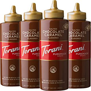 Torani Sauce-Pack of 4 [Packaging May Vary], Salted Chocolate Caramel