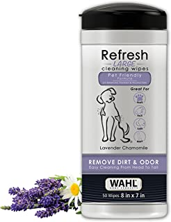 Wahl Dog/Pet Refresh Cleaning Wipes, 50 Wipes, Lavender Chamomile