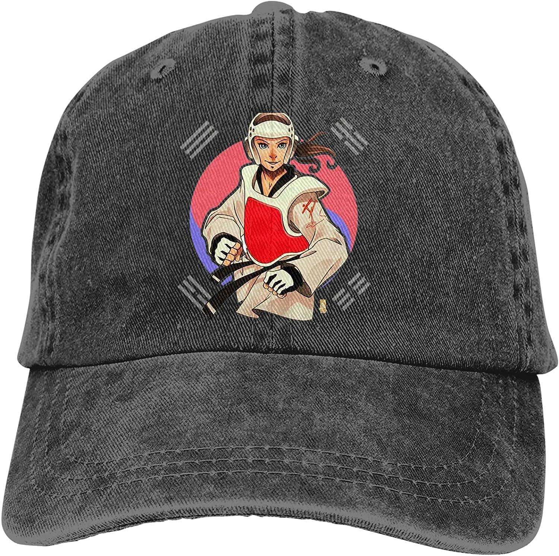 NC Taekw-ondo Girl in The Moon Trucks Cotton Hat Cowboy Hat Baseball Caps Black