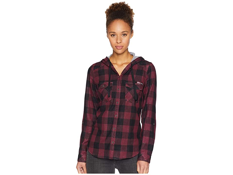 Columbia Collegiate Times Twotm Hooded Long Sleeve Shirt (TAM/Deep Maroon Check) Women