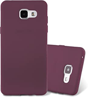Cadorabo Case Works with Samsung Galaxy A3 2016 in Frost Bordeaux Purple – Shockproof and Scratch Resistant TPU Silicone Cover – Ultra Slim Protective Gel Shell Bumper Back Skin
