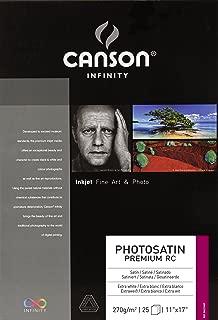 Canson Infinity PhotoSatin Fine Art Paper, 270 Gram, 11 x 17 Inch, 25 Sheets