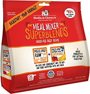Stella & Chewy's Freeze-Dried Raw Grass-Fed Beef Meal Mixer SuperBlends Dog Food Topper, 16 oz. Bag (SBBM-16)