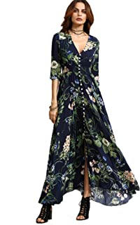 Milumia Women's Button Up Split Floral Print Flowy Party...