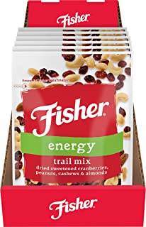 Fisher Dried Sweetened Cranberries, Peanuts, Cashews, Almonds, 21 Ounce (Pack of 6)
