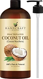 Fractionated Coconut Oil – 100% Pure & Natural Premium Therapeutic Grade - Coconut Carrier Oil for Aromatherapy, Massage, Moisturizing Skin & Hair – Huge 16 OZ