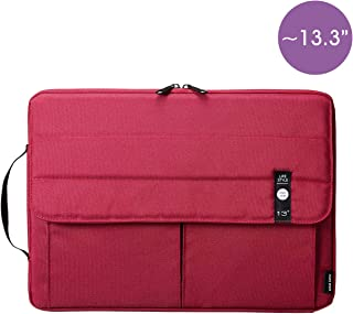 SANWA (Japan Brand) Laptop Computer Sleeve Case, Sleeve Bag Compatible with 13 inch MacBook Pro, MacBook Air, Pad,HP, Dell, Notebook Computer, Water Resistance Case Cover with Pocket, Red