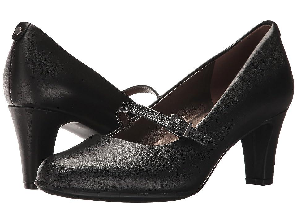Easy Spirit Ampara (Black/Black Leather) Women