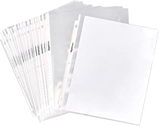 """AmazonBasics Clear Sheet Protector for 3 Ring Binder, 8.5"""" x 11"""" - 100-Pack"""