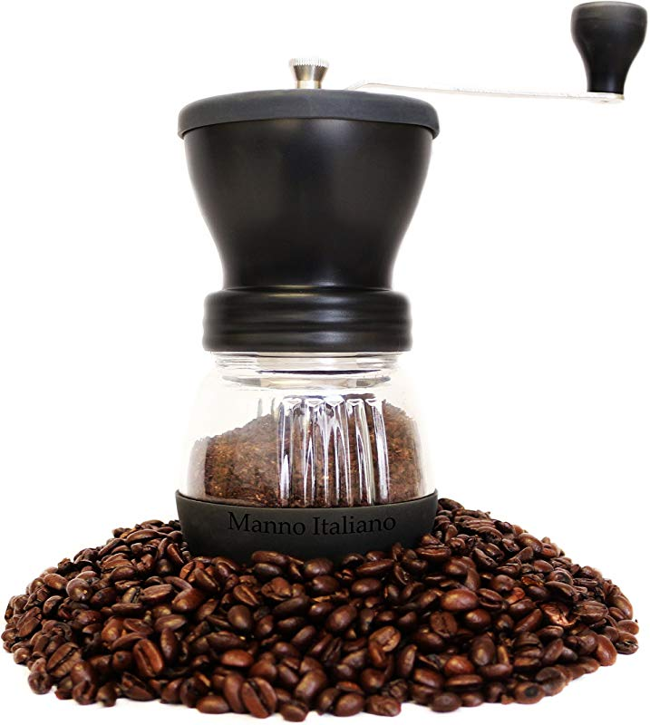 Manual Coffee Grinder Adjustable Ceramic Burr Grinders With Hand Crank