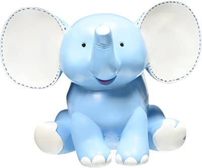 Buddy The Elephant Blue Planter Adorable Baby Nursery Decor