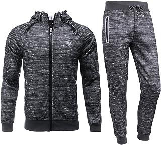 Airavata Men's Tracksuit Sweat Jacket Trousers Sportswear Jogging Fitness Suit