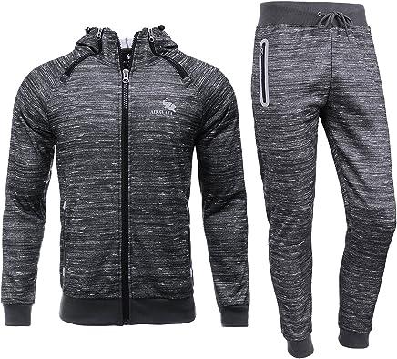 e1a2901352 AIRAVATA Homme Ensemble Pantalon de Sport Sweatshirt à Capuche Jogging  Survêtement